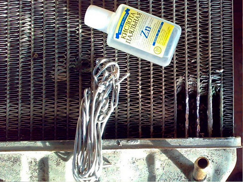 Ремонт алюминиевого радиатора печки своими руками